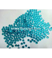 10MM ROUND SHAPE KUNDANS LIGHT BLUE