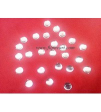 10MM ROUND SHAPE KUNDANS WHITE
