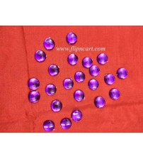 10MM ROUND SHAPE STONES PURPLE