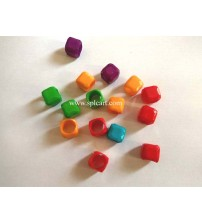 10MM SQUARE PLASTIC BEADS
