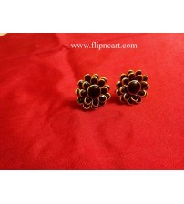 PACHI STUDS BLACK DOUBLE LAYER
