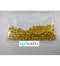 PLAIN GOLD BEADS 3MM