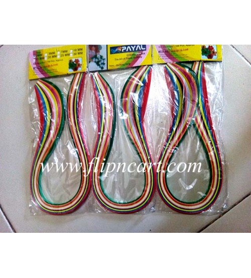 5 MM MULTI COLOUR QUILLING STRIPS