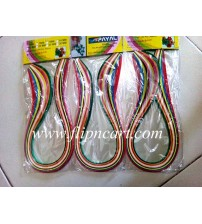 3 MM MULTI COLOUR QUILLING STRIPS