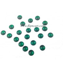 8MM ROUND SHAPE KUNDAN GREEN