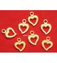 ACRYLIC SPACERS HEART DESIGN PACK OF 100 PIECES