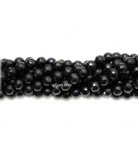 AGATE BEADS BLACK 8MM ONE STRING