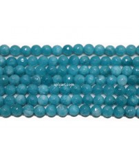 AGATE BEADS LIGHT BLUE 8MM ONE STRING