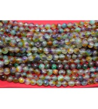 AGATE BEADS LIGHT MULTICOLOR 8MM ONE STRING