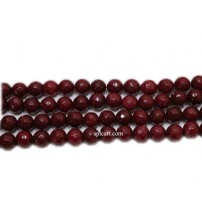 AGATE BEADS MAROON 8MM ONE STRING