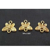 ANTIQUE BUTTERFLY CONNECTOR 15X13MM PACK OF 10 PIECES