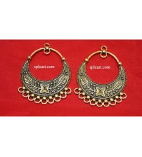 ANTIQUE CHANDBALI 4X5.5CMS ONE PAIR