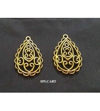 ANTIQUE DROP SHAPE CHARM 3X2CMS ONE PIECE