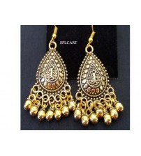 ANTIQUE DROP SHAPE EARRINGS WITH GUNGROO