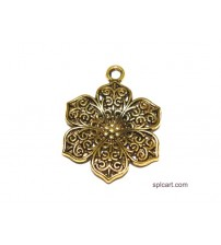 ANTIQUE FLOWER PENDANT 3CMS ONE PIECE
