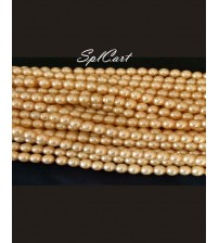 Splcart Creamish Glass Pearls One String Of 100 Beads
