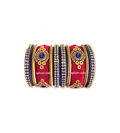 BLUE AND PINK SET OF BANGLES