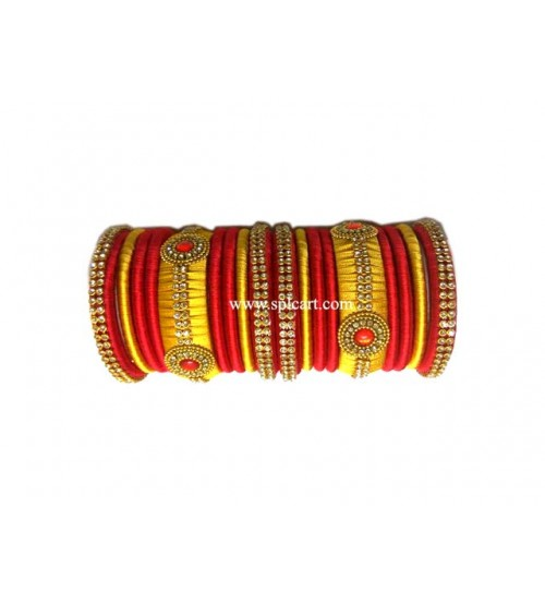 Bridal Bangle with  Golden Red Set