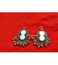 DOUBLE CIRCLE SHAPE EAR RINGS ONE PAIR