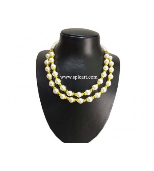 Splcart Pearl Beads Double Layer Neckset