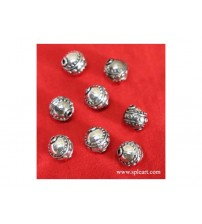 GERMAN SILVER BEADS 10MM ONE PIECE