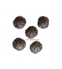 GERMAN SILVER BEADS 20MM ONE PIECE