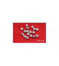 GERMAN SILVER BEADS 4MM PACK OF 50 PIECES
