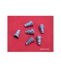 GERMAN SILVER TASSEL CAP 10MM PACK OF 20 PIECES