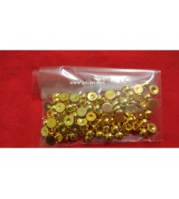 GOLD HALF PEARLS 6MM PACK OF 10 GRAMS
