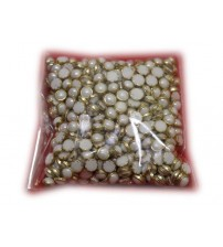 PEARL ROUND STONES WHITE 6MM PACK OF 100 PIECES