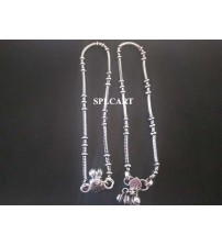 SILVER ANKLETS ONE SET