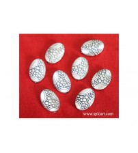 SILVER BEADS 15X10MM PACK OF 10 PIECES