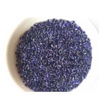 SILVER LINED SEED BEADS BLUE 4MM PACK OF 10 GRAMS